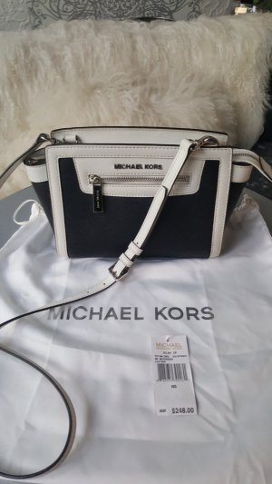 a2492557687b6 Original Michael Kors Tasche Selma NEU Etikett schwarz weiss