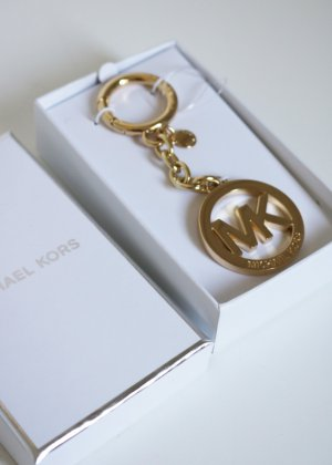 Original Michael Kors Taschenanhänger Schlüsselanhänger gold Neu mit Etikett Ausverkauft