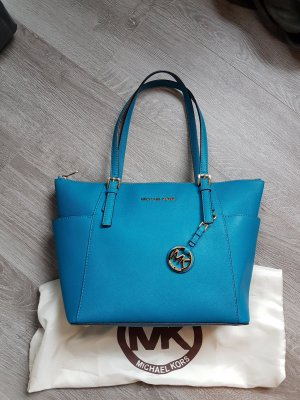 Original Michael Kors Top Zip Tote in Türkis