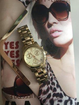 Original Michael Kors   Uhr Gold , chronograph