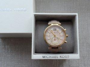 original MICHAEL KORS Uhr MK2529 Sawyer Gold Beige Rosa nur 2 x getragen