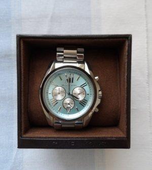 original MICHAEL KORS Uhr MK6099 Bradshaw Silber Blau wenig getragen