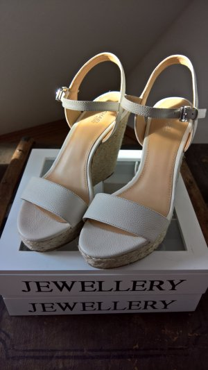 Michael Kors Wedge Sandals white-natural white