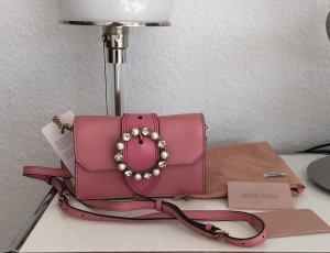 Original Miu Miu by Prada bejeweled buckeled belt bag Rosé NEU Liebling