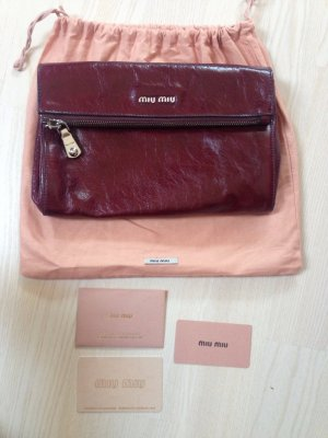 Miu Miu Borsa clutch bordeaux