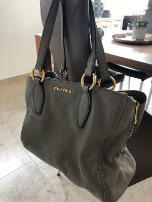 Miu Miu Pouch Bag grey-slate-gray