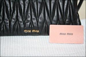 Original MiuMiu Matelasse Clutch in schwarz