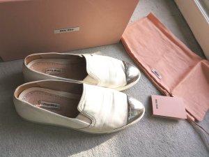 Miu Miu Slip-on Sneakers white-silver-colored