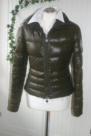 Original Moncler Daunen-Jacke - tailliert - Gr.2 (36/38/S) braun schwarz Luxus