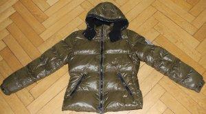 original Moncler Daunenjacke Badia oliv khaki Gr. 3 Jacke tailliert