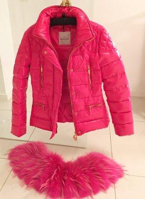 Original   Moncler Jacke in Pink36/38 abnehmbaren Echtpelzkragen mit Certilogo!