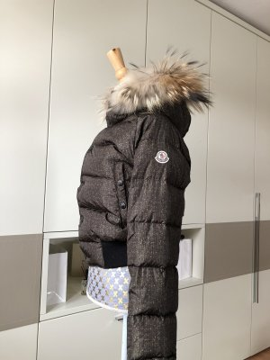 Moncler Fur Jacket black brown-ocher