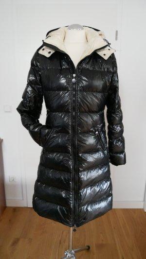 Moncler Abrigo de plumón negro-blanco