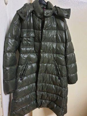 Moncler Abrigo de plumón verde grisáceo