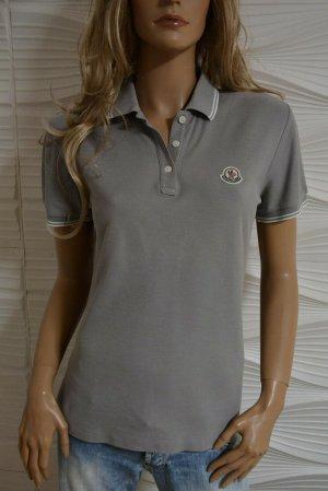 Original Moncler Polo Shirt Grau L 38-40 Luxus Code Certilogo