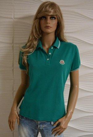 Original Moncler Poloshirt grün L 38-40 Certilogo Luxus