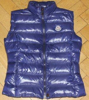 original Moncler Weste Ghany blau lila Gr 1 XS S 34 36 TOP! NP 450€ Daunenweste