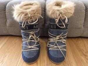 Moon boot Bottes de neige doré-bleu acier