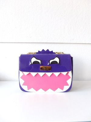 Original Moschino Cheap and Chich Tasche Monster Edition lila pink