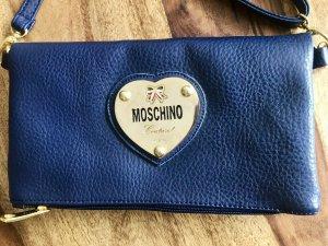 Original Moschino Couture Tasche aus Leder in nachtblau