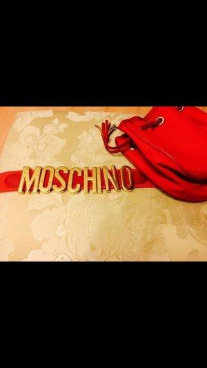 Original Moschino Gürteltasche Bauchtasche Gürtel Tasche rot Gold