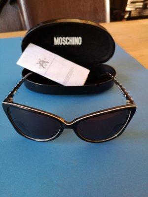 Moschino Zonnebril wit-zwart