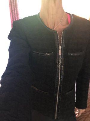 Original neu Michael Kors Steppjacke Blazer schwarz mit Lack Frühling Übergangsjacke NP279$