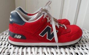 original NEW Balnace Sneaker Gr. EU 40 Rot Leder wenig getragen