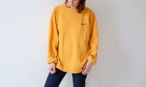 Nike Crewneck Sweater dark yellow-yellow cotton