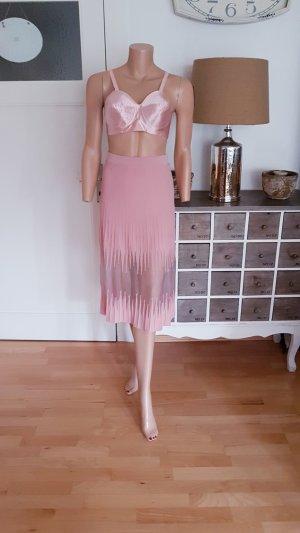 Nikkie Falda de talle alto color rosa dorado-rosa