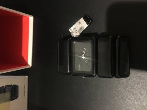 Original NIXON Uhr in schwarz
