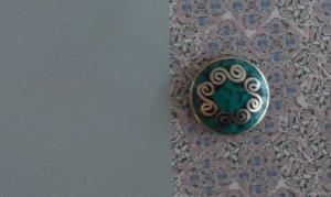Noosa Bouton argenté-turquoise