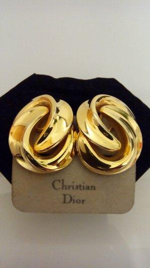 Christian Dior Pendientes de clip color oro