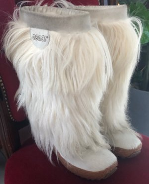 Oscar B. Fur Boots natural white-beige