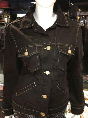 Original Otto Kern Jeans Jacke Schwarz Gold Größe L Modell Kashira ungetragen