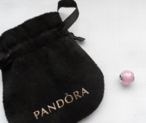 Pandora Charm silver-colored-pink real silver
