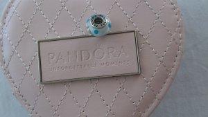 original Pandora Anhänger in weiß mit hellblauen Punkten