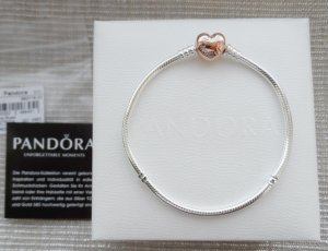 original Pandora Armband 580719-20 für Charm Anhänger 925 Silber