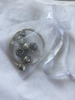 Original Pandora-Band + Charms - komplett/ einzeln - 925er Silber/Perle