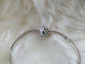 Pandora Dije blanco-color plata plata verdadero