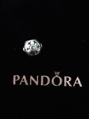Original Pandora Charm Schneeflocke Eisblume blauer Stein