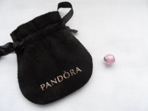 Pandora Charm silver-colored-light pink real silver