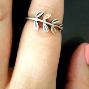 Pandora Zilveren ring zilver-goud Zilver