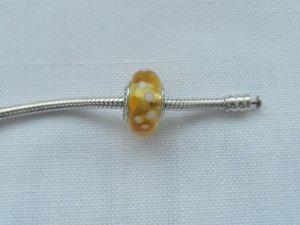 Pandora Breloque argenté-jaune argent