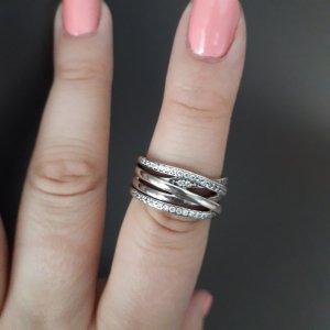 Pandora Statement ring wit-zilver Zilver