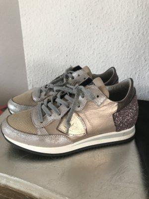 Original Philippe Model Sneaker Turnschuhe 36 rose gold Plateau Schuhe Glitzer wNeu 330€