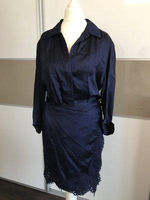 Original Pinko Kleid Super sexy dunkelblau mit Spitze
