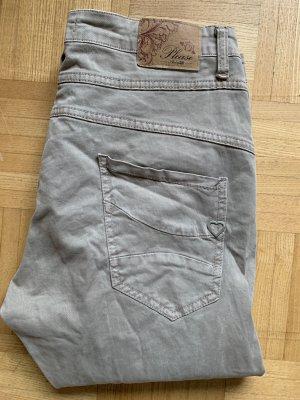 Please Pantalon boyfriend taupe-gris brun
