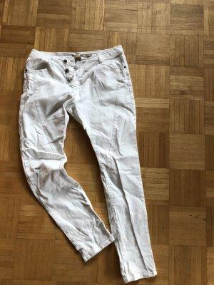 Please Pantalon boyfriend blanc