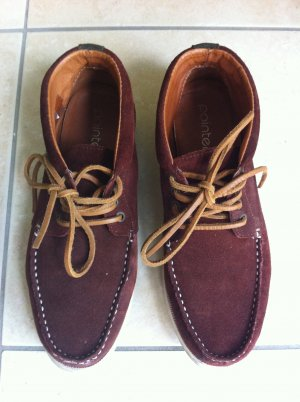 Pointer Sailing Shoes brown red suede